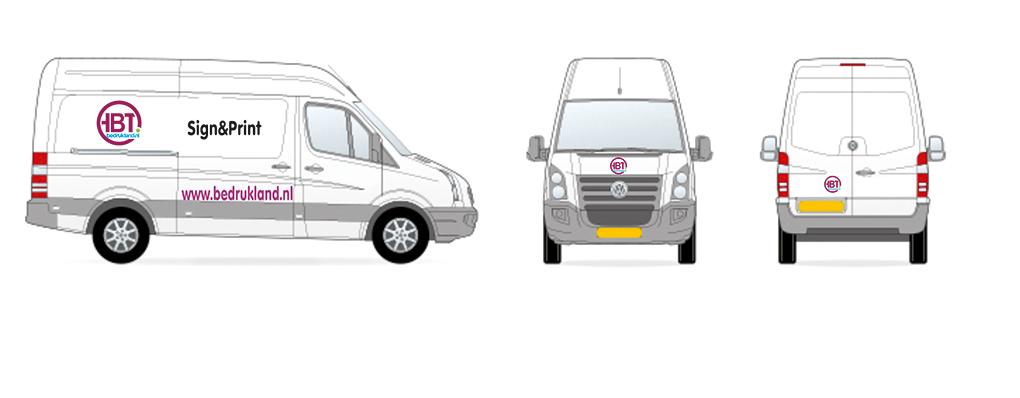 bestelwagen medium - AUTORECLAME